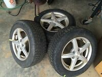 Rims and tires for civic