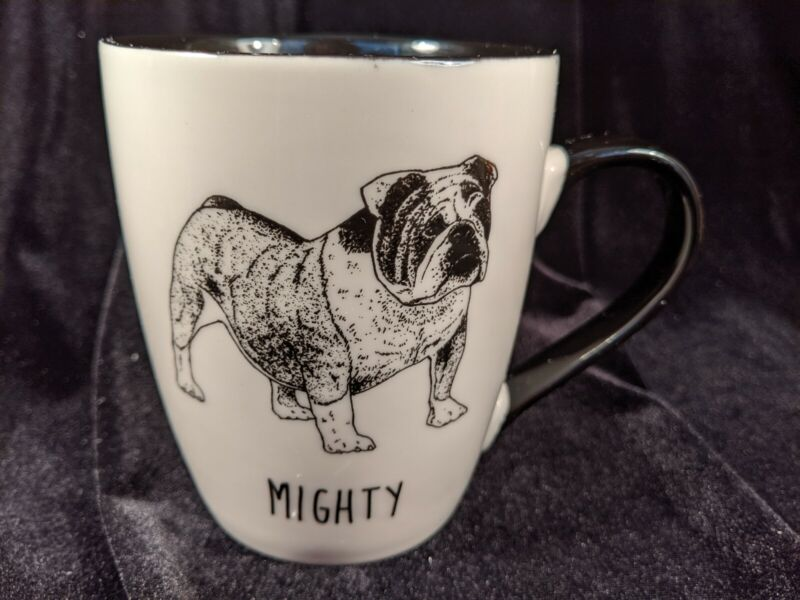 Winifred & Lily Bulldog Mighty Coffee Mug Dog Black White Large Cup Tea Drink