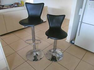 Black leather look Bar Stools x 2 - $55 for the two Albany Creek Brisbane North East Preview