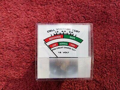 Vintage Prime Cleveland Ohio 12v Cell Voltage Test Meter