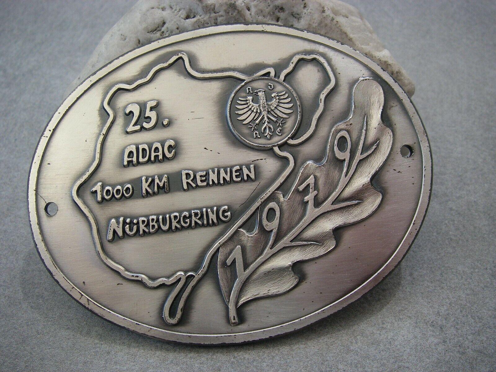 vintage german ADAC 1000 KILOMETERS RACE NÜRBURGRING Automobile Car Club Badge
