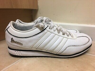 Adidas Vespa Men's White Leather Trainers Size Uk 8 eur 42