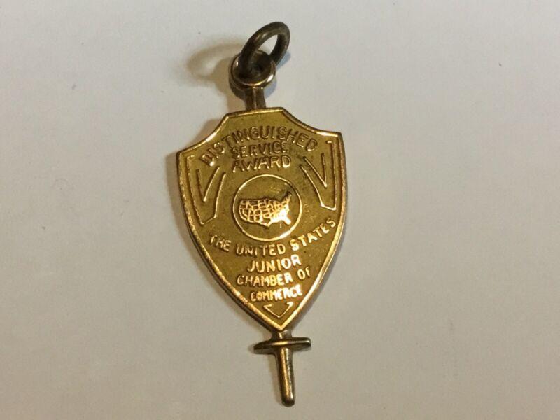 Vintage 1950's 10K Gold Junior Chamber of Commerce Jaycee Medal charm FOB