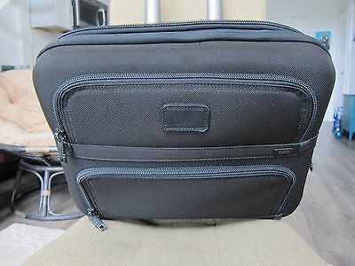 TUMI Alpha Compact Wheeled Computer Brief Laptop Case Luggage 26124DH