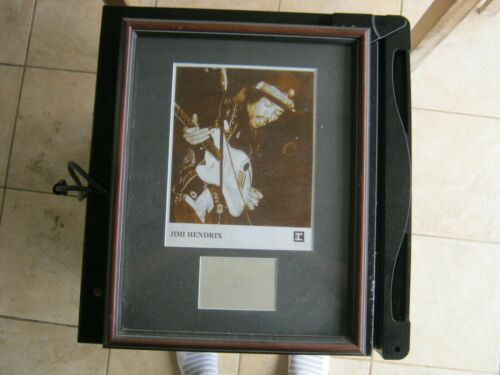 Jimi Hendrix autograph framed with promo photo