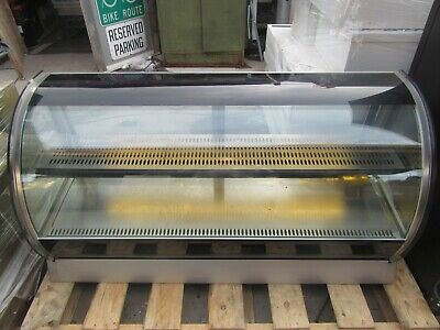 Vollrath Rde8160 Curved Glass Cooler Display 60 Inch Lighted 2 Shelf Rear Access