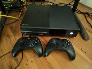 Xbox One console with controllers and games Erskineville Inner Sydney Preview