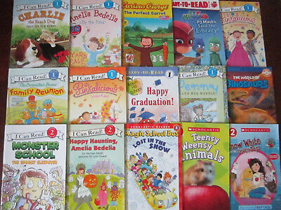 Lot of 15 Level 1 & 2  Reader Books ~ Ages 4-8 ~ Step Into Reading, I Can Read