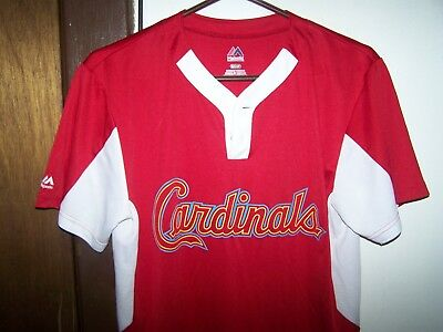 MLB St. Louis Cardinals Majestic Men's  SIZE SMALL  2 Button Replica Jersey ()