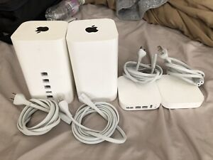 2 Apple Airport Extreme & 2 Express (bundle)