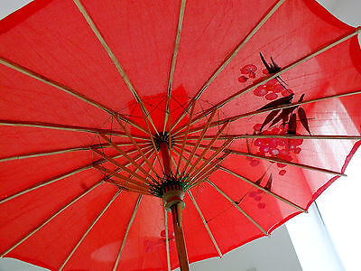 JAPANESE SMALL RED PARASOL UMBRELLA WEDDING GIRL CHINESE DANCE FANCY PARTY