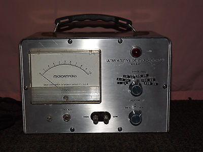 Vintage Rca Radio Corp Of America Camden Nj Ultra-sensitive Dc Microammeter