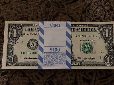 MULTIPLE ERROR THREE (3) ✯ STAR NOTES SEQUENTIAL $1 Dollar UNC CRISP from BEP