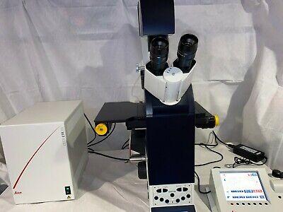 Leica Dmi6000 B Inverted Fluorescence Motorized Microscope Complete Stp8000