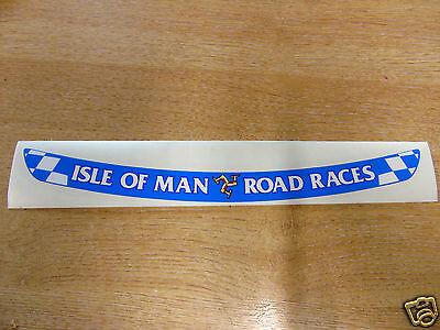 Isle of Man Road Races - TT Visor Decal Sticker - BLUE