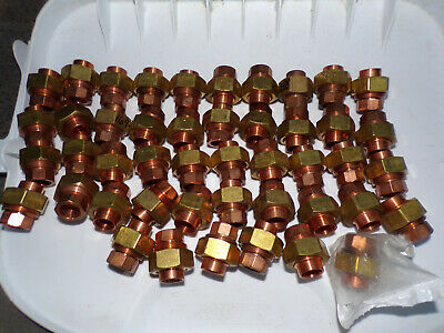 Lot Of 45 - Elkhart Copper Pressure Fitting 38 Sweat Union - Plumbers Special