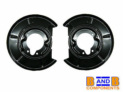 BMW E30 E36 COMPACT Z3 REAR DISC BRAKE BACK PLATE PAIR A1129