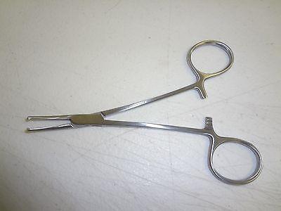 Mosquito Kocher Hemostat Forceps 5 Curved 1x2 Teeth German Stainless Steel Ce