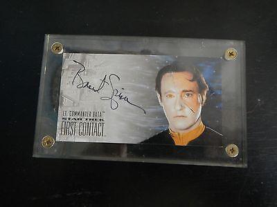 Lt Commander Data, Brent Spiner SIGNED skybox 1996 Limited Edition Card *RARE*