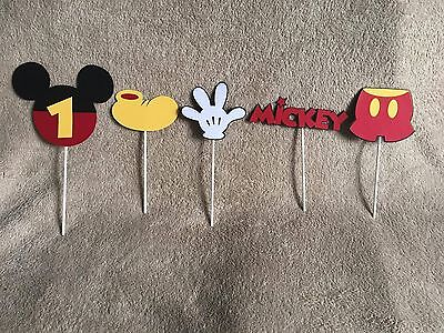 5 Mickey Mouse centerpieces. Mickey head with age,hand,Mickey,pants,shoe.  - Mickey Mouse Centerpieces