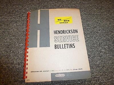 Hendrickson Rt340 Rt380 Rte340 Rte380 Tandem Trailer Shop Service Repair Manual