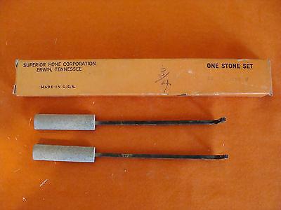 Nos Superior Hone Corporation Style A Honing Stone Set Coarse 12-8-180 Size 34