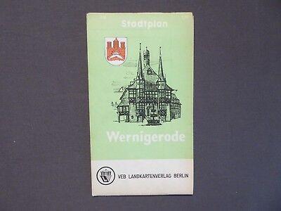 Landkarte, Stadtplan von Wernigerode, ca. 1 : 10000, DDR 1967