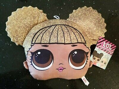 """NEW LOL Surprise Face Pillow Style Plush (Queen Bee 9""""-13"""") MGA Toy Factory NWT"""