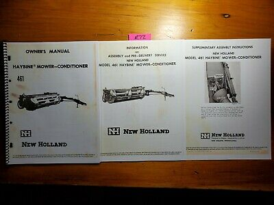 New Holland 461 Haybine Mower-conditioner Owner Assembly Pre-delivery Manual