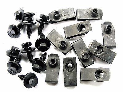 BMW Body Bolts & U-nut Clips- M6-1.0mm x 20mm Long- 10mm Hex- 20 pcs- #141