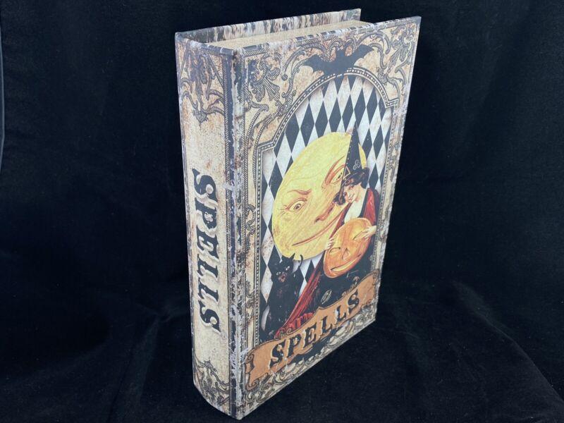 "New Witch Spells Faux Stash Book Diversion Box Decorative Box Halloween 11"""