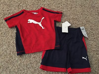 NWT Puma Track outfit for Boys size 18M - Shorts and T-shirt - red (2186)](New Outfit For Boys)
