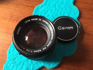 Canon 50mm 1.4 Fd and 35mm 3.5 FD