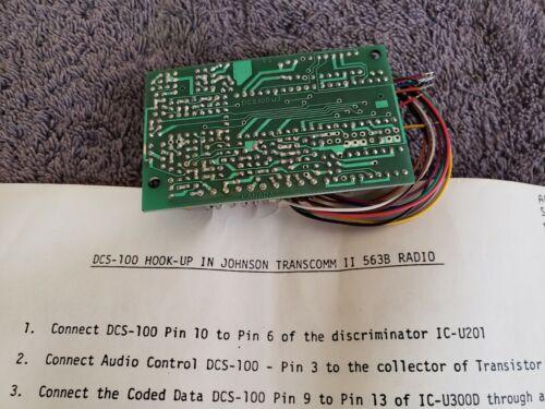 NOS Motorola Controller Control Kit ? DCS-100 U2 for Johnson II 563B 2 way Radio