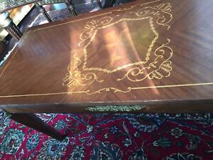 Antique French empire coffee table