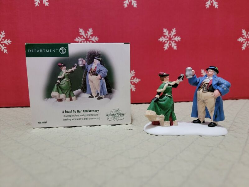 """Dept. 56 Dickens Village Series """"A Toast To Our Anniversary"""""""
