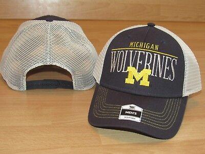 Michigan Wolverines Fan Favorite Mesh Trucker Snapback Hat Cap Men