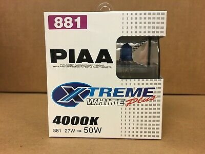 (CLOSEOUT) PIAA 881 XTREME WHITE PLUS 4000K HALOGEN BULBS