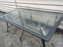 Glass outdoor table Glenroy Moreland Area Preview