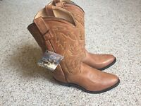 Ladies Old West real leather cowgirl boots