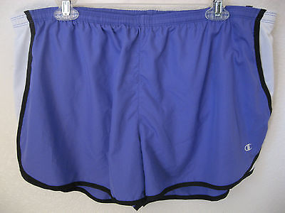 womens running shorts xl champion lilac purple lightweight inner brief