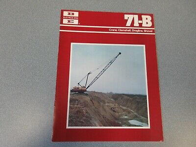 Rare Bucyrus-erie 71-b Crane Excavator Sales Brochure 1977