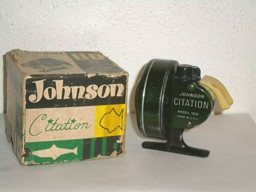 Vintage Johnson Citation 110B Fishing Reel w/ Incorrect Box