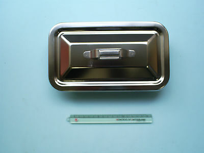 New Product Stainless Steel Surgical Instrument Tray With Lid Small-scale