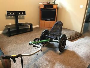 Recumbent trailer bike