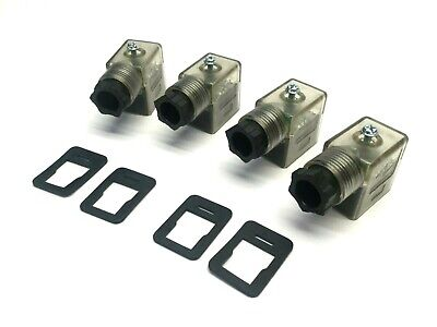Lot Of 4 Canfield 6-48v Acdc Solenoid Connectors