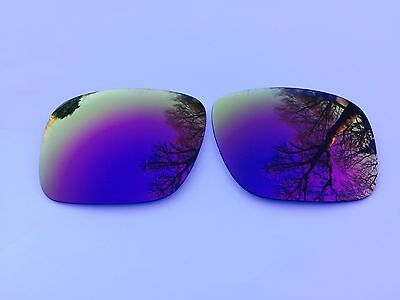 NEW POLARIZED PURPLE  MIRRORED REPLACEMENT OAKLEY HOLBROOK LENSES