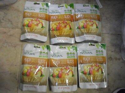 6 X So Natural Freeze Dried Peach Slices .7oz x6 SMART SNACK Gluten Free peaches Freeze Dried Peaches