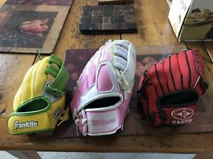 Kids or toddlers baseball gloves
