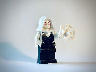 Lego Spider-Man Minifig - Ghost Spider / Spider-Gwen w/accessory - sh543 - 76115